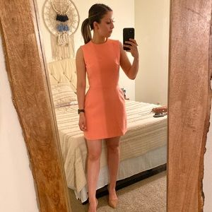 French Connection neon pink dress